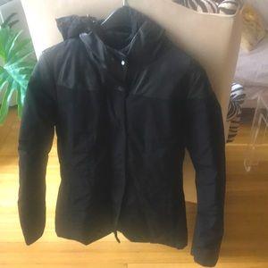 Dirk Bikkembergs Black CottonLeather Puffy Coat